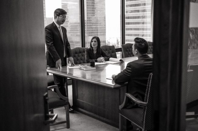 Business Meeting Photographed by Michael Roud in Los Angeles