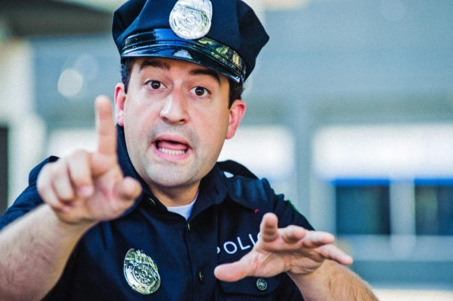 Policeman Character Acting Headshot by LA's Michael Roud Photography
