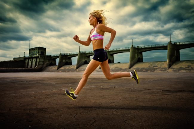 Los Angeles Woman Running in Lifestyle and Fitness Headshot
