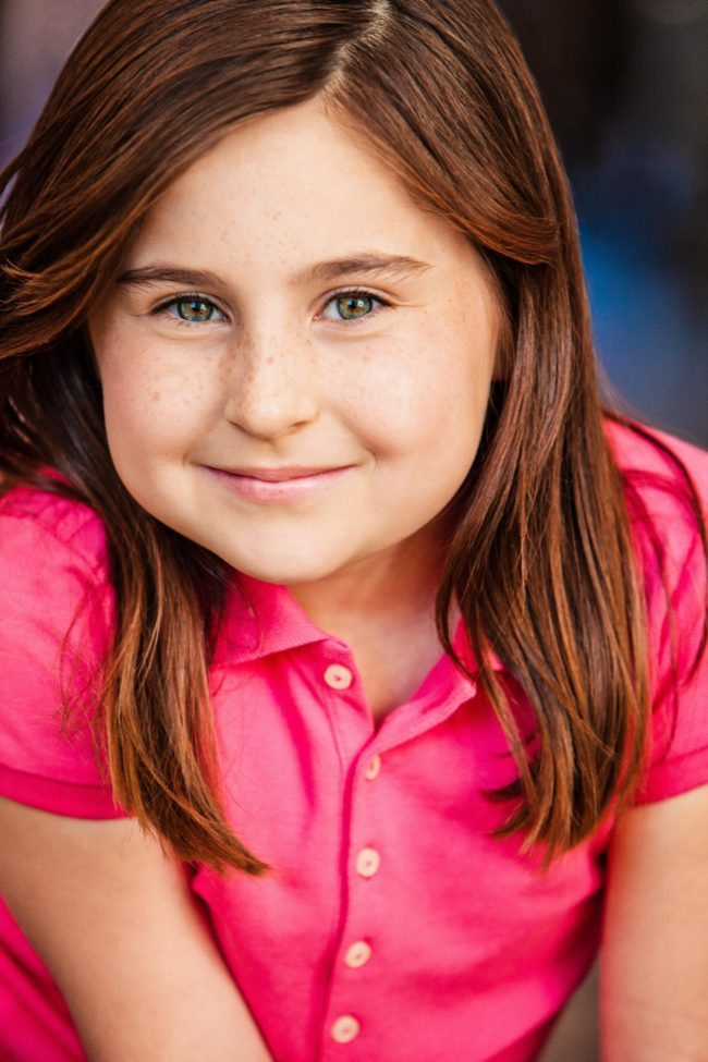 Girl In Pink by Kids Headshot Photographer Michael Roud