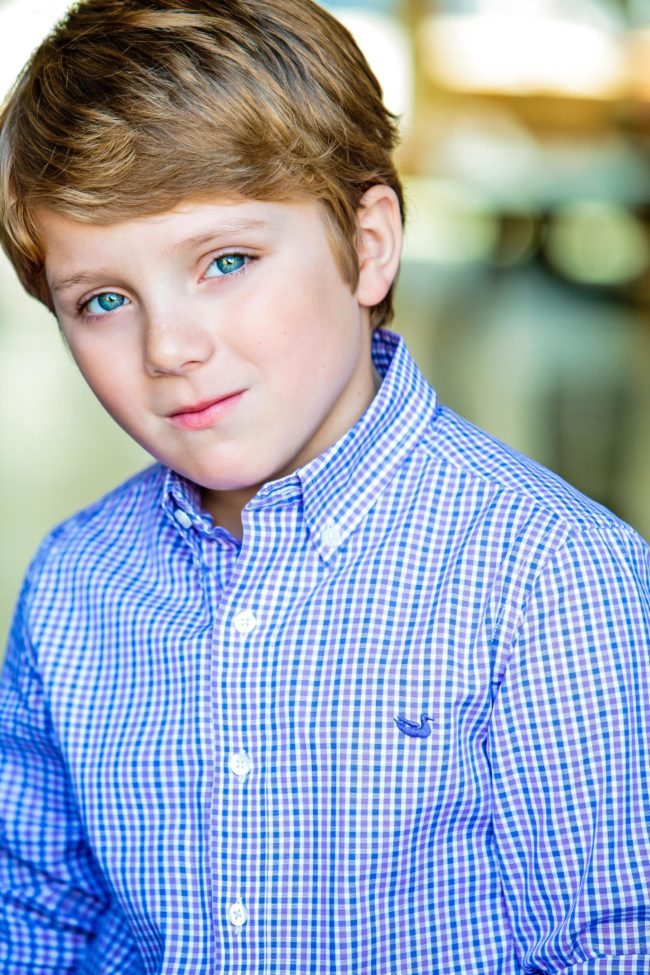 Boy Child's Headshot by Los Angeles Photographer Michael Roud