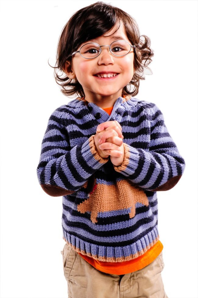 Happy Boy in Glasses by LA Kids Headshot Photographer, Michael Roud