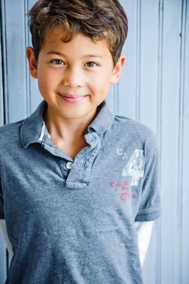 Headshot of a Boy by Michael Roud Photography in Los Angeles
