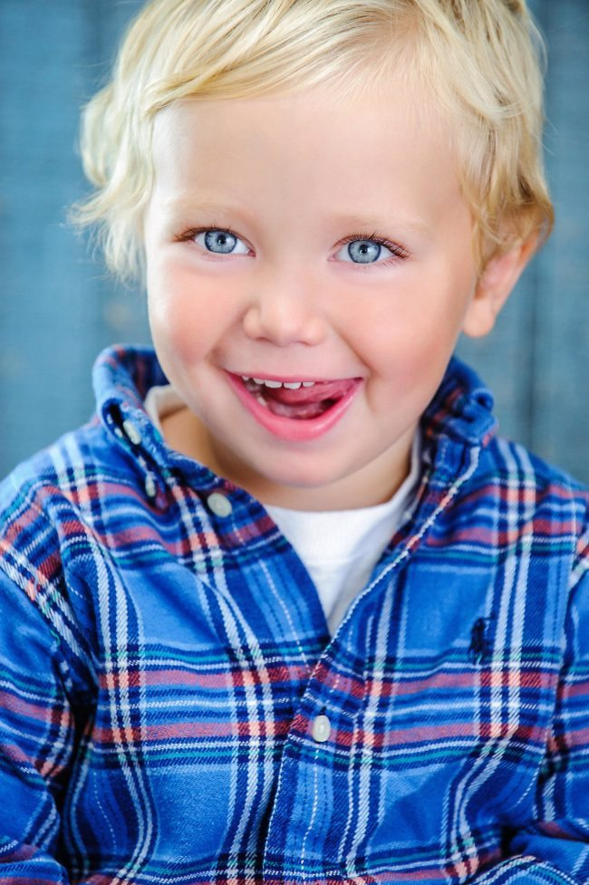 Blue Eyed Boy Los Angeles Childrens Headshot Photography