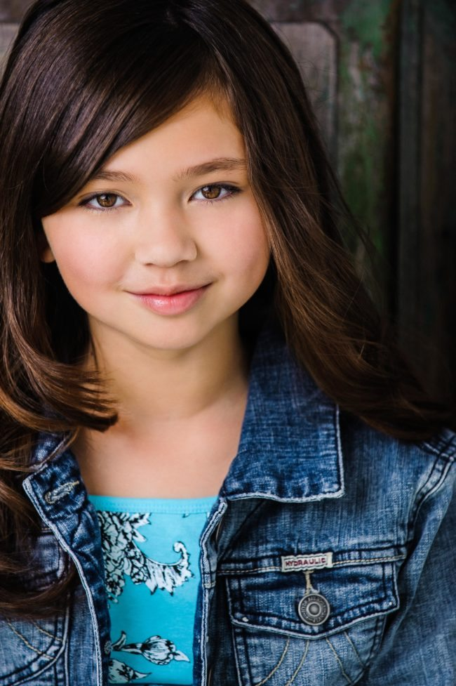 Child Headshot of a Brown Haired Girl in LA by Michael Roud Photography