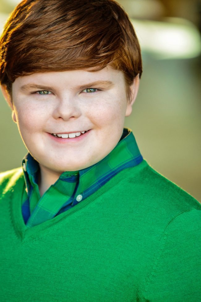 Male Child Actor Headshot by Los Angeles Character Photographer
