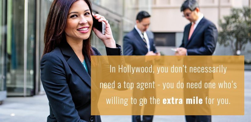 You don't need a top notch acting agent