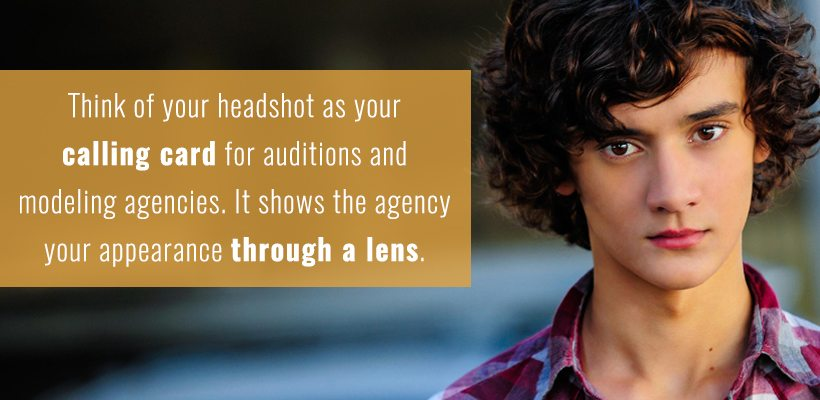 Modeling Agency Headshots Act as a Calling Card